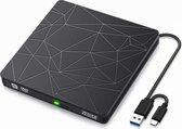 Externe DVD Speler & Brander - DVD/CD Drive voor Laptop & Macbook - Data & Voeding Via USB 3.0 of USB C  van Zedar