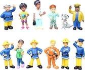Brandweerman Sam - Speelgoed - decoratie - 12 speelfiguren - PVC - cadeau - [3-6 cm]