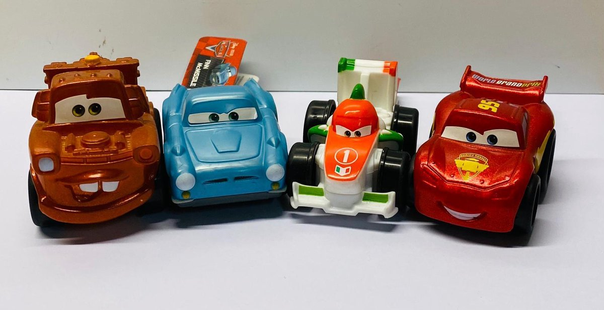 Cars Wheelie assorti A set 4 stuks
