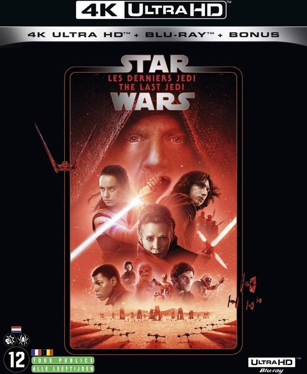 Star Wars: The Last Jedi (4K Ultra HD Blu-ray) (Import zonder NL)-