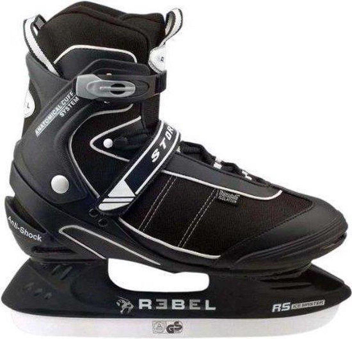 Rebel ijshockey schaatsen zwart 45/46