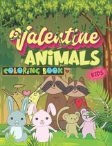 Valentine Animals Coloring Book