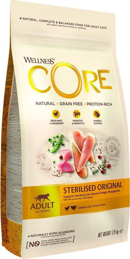 Wellness Core Grain Free Cat Sterilised Kip & Kalkoen - Kattenvoer - 1.75 kg