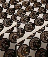 EID MUBARAK stickers zwart met goud - suikerfeest stickers - offerfeest stickers - fijne ramadan - decoratie - party