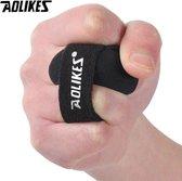 Brace voor gebroken vingers   Spalk voor pijnlijke vinger   M   Vinger beschermer   Extra ondersteuning tijdens sporten   Heren/dames   Unisex    Sport   Zwart