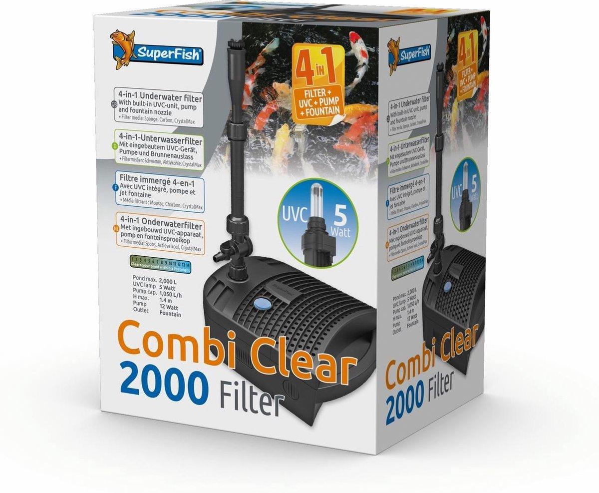 Superfish Combi Clear 2000-Uvc5w-Pomp1000l Grijs - - 0