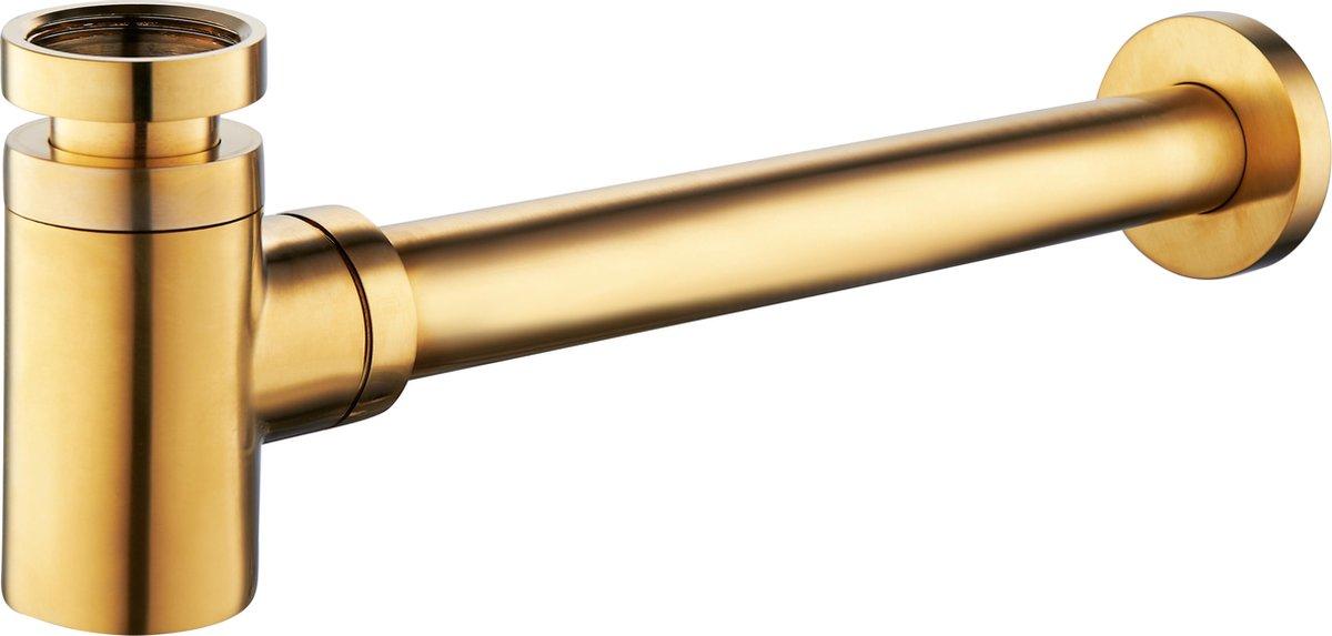 Wiesbaden Star luxe sifon laag 11/4'' geborsteld messing (goud)
