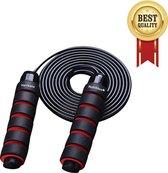 SPRINGTOUW - nieuw ✯2020✯ - 2,8m Professioneel springtouw - verstelbaar - speedrope - Hurricane Nutrition® - cardio - springtouwen - fitnessmateriaal - conditie oefening - touwtje springen - jump rope - kogellagers - rood - spring