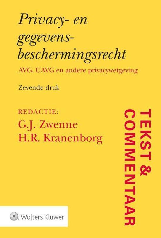 Boek cover Tekst & Commentaar  -   Privacy- en gegevensbeschermingsrecht van  (Hardcover)