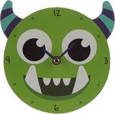 Groen Monstarz Monster Wandklok / Kinderkamer wandklok - Klok voor kinderen