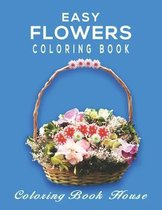 Easy Flowers Coloring Book