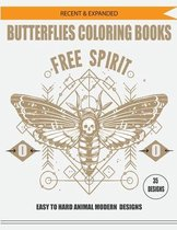 Recent & Expanded Butterflies Coloring Books Free Spirit 35 Designs Easy to Hard Animal Modern Designs