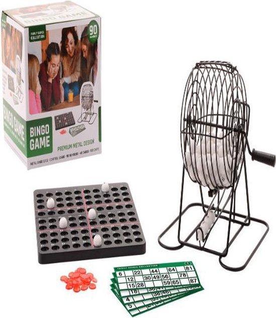 Afbeelding van het spel Metalen bingo spel met 90 nummers en 40 kaarten