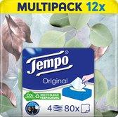 Tempo Original Tissues Box - 4-laags - 12 x 80 tissues - seizoen voorraad