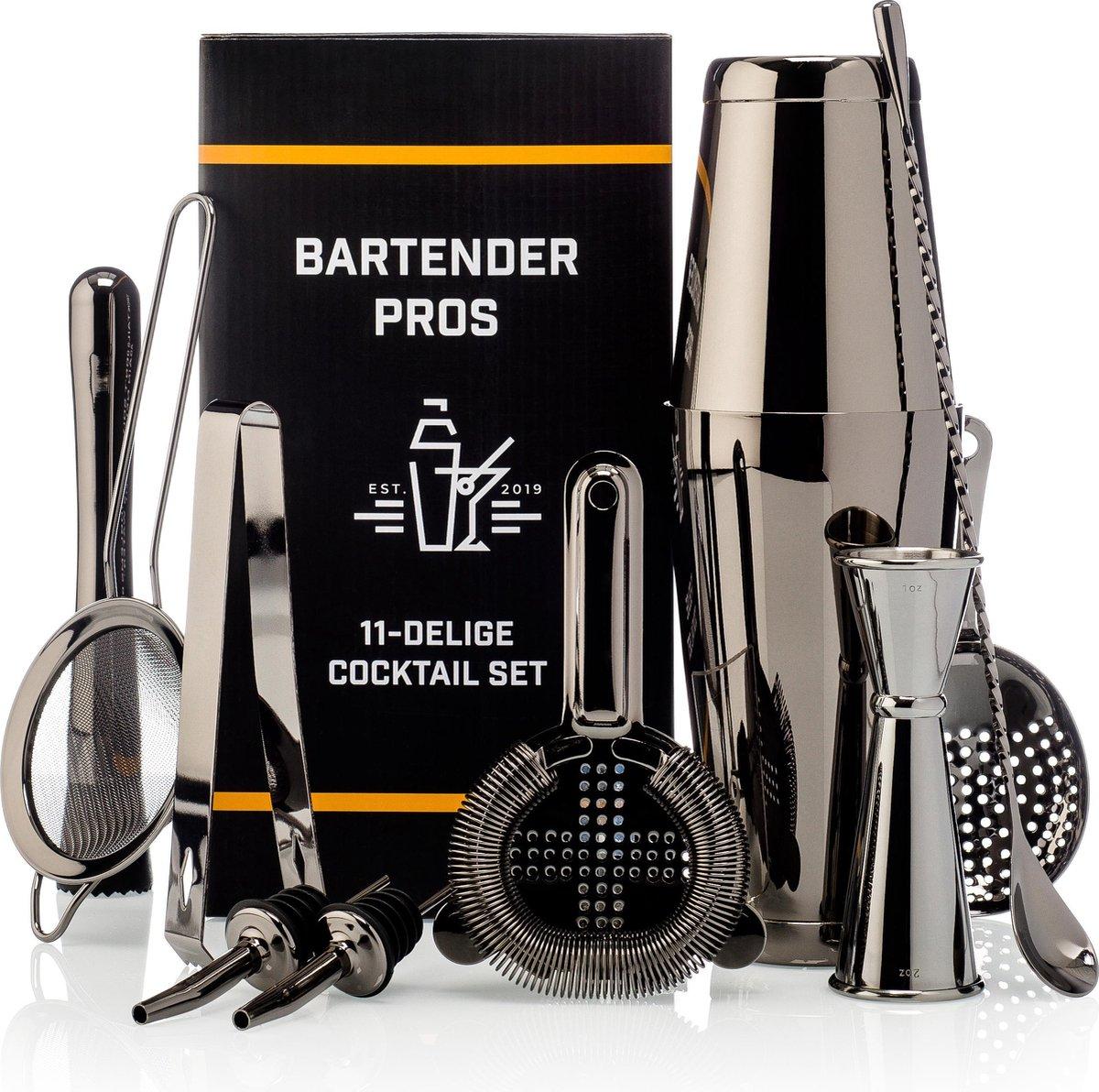 Cocktail Set Bartender Pros  - Cocktail Shaker - 11-Delige Cocktailset - Boston shaker - Cocktailsha