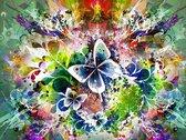 Vitamo™ Diamond Painting 40x50 cm - Compleet pakket - Vierkante steentjes - Volledige bedekking - Dieren - Bloemen en Planten - Vlinders