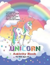 Unicorn Activity Book For Kids Ages 4-8 - Book No.1