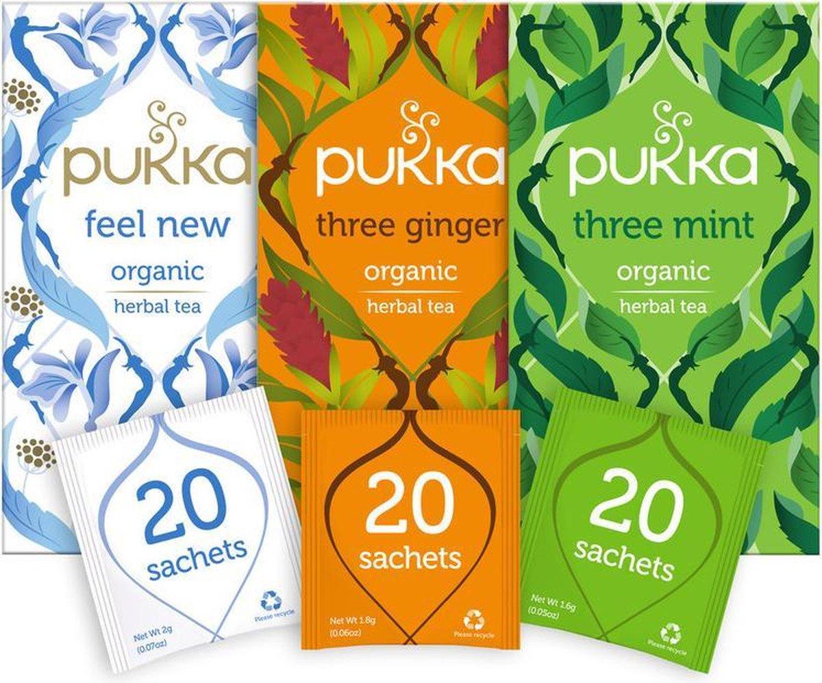 Pukka After Dinner Thee Bundel, 3 blends biologische kruiden thee voor na de maaltijd (3 x 20 zakjes