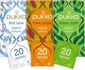 Pukka After Dinner Thee Bundel, 3 blends biologische kruiden thee voor na de maaltijd (3 x 20 zakjes)