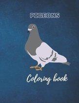 Pigeons Coloring book