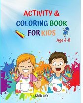 Activity and Coloring Book For Kids