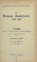 Le roman américain, 1830-1850