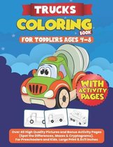 Trucks Coloring Books for Toddlers Ages 4-8