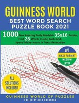 Guinness World Best Word Search Puzzle Book 2021 #1 Maxi Format Medium Level