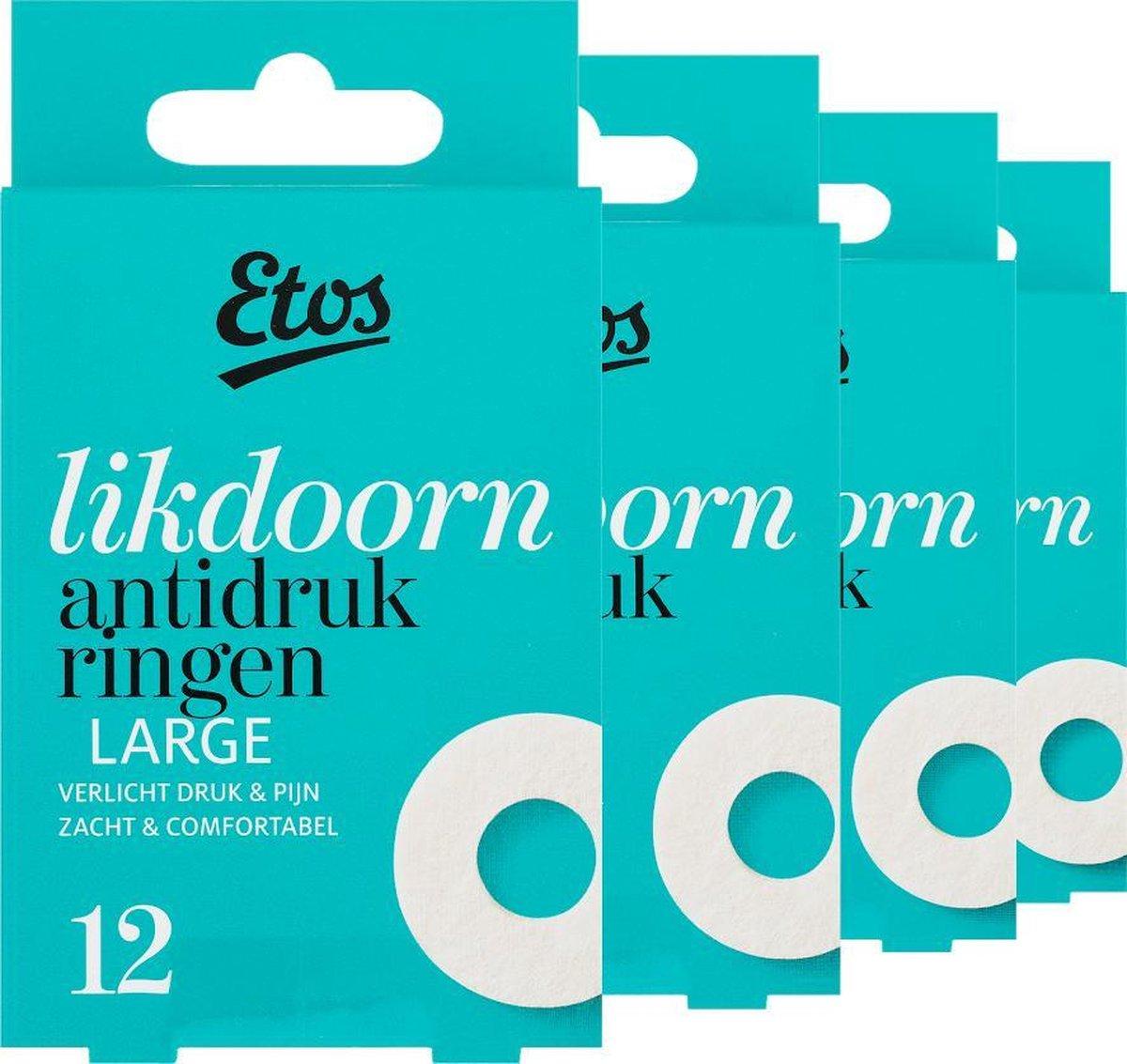 Etos Likdoorn Anti-Drukringen Large -  48 stuks (4 x 12 stuks)