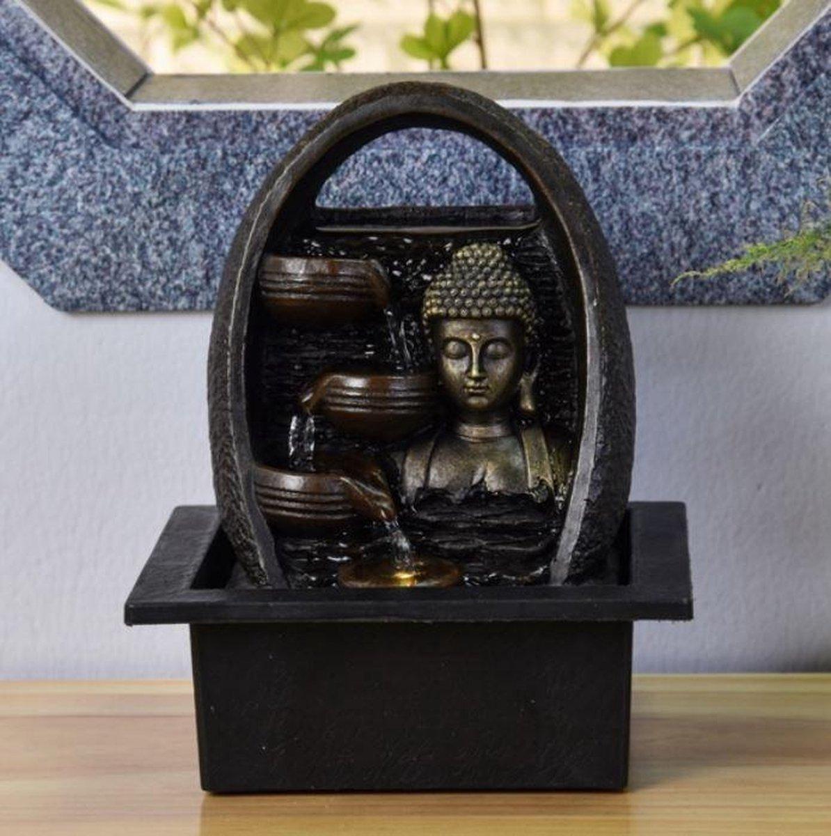 Bouddha Essan Relax - fontein -interieur - fontein voor binnen - relaxeer - zen - waterornament - cadeau - geschenk - relatiegeschenk - origineel - lente - zomer - lentecollectie - zomercollectie - afkoeling - koelte