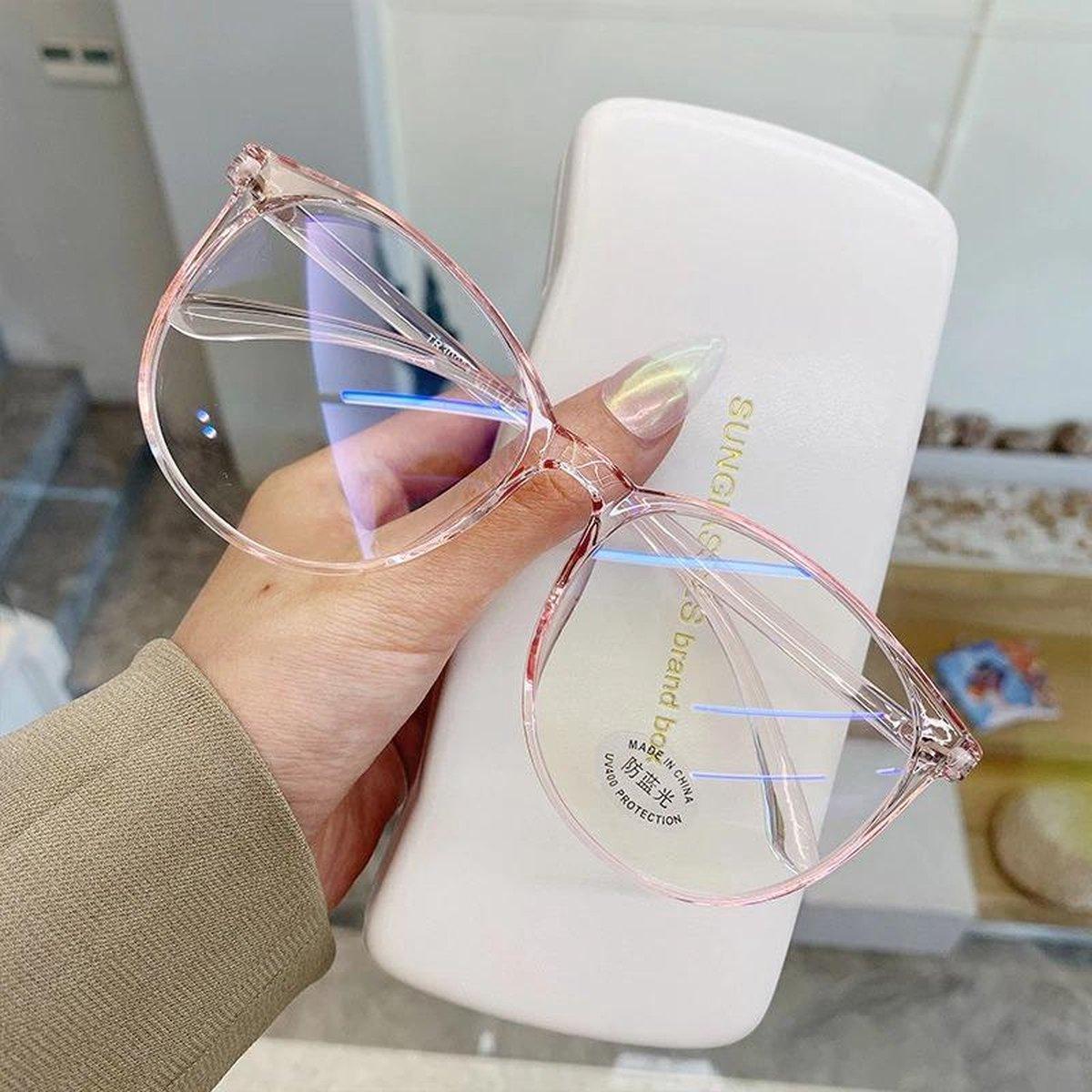 Computerbril - Blauw Licht Bril - Blue Light Glasses - Roze