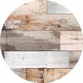Wicotex Rond Tafelzeil - 160cm - Hout Bruin
