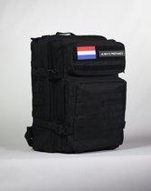 Always Prepared - Tactical Backpack - Sporttas - Schooltas - Rugzak - Black Warrior - 45L