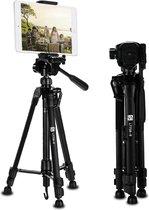 SEFID® LT750-B Camera en telefoon statief - Smartphone Tripod met houder iphone , samsung , fotocamera , Ipad en tablet standaard