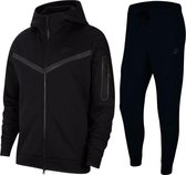 Nike tech fleece zwart trainingspak M