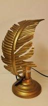 Lamp - Waai Blad  - Antiek  Goud - 38cm .