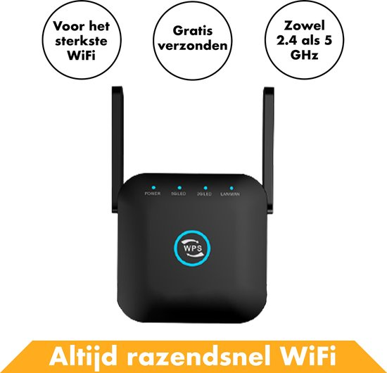 Wifi Repeater 1200 MBPS Draadloos Van In Round- Internet Versterker Stopcontact - Router - Extender Kopen Stopcontact Buiten 5G Wireless Adapter USB Draadloze - Modem - PC – Voor o.a. Windows 10 & Macbook - Access point - Mesh - Bridge - Hotspot