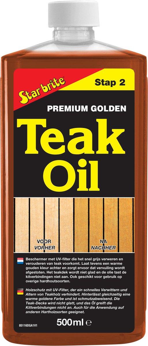 Star brite Premium Golden Teak Olie 500ml
