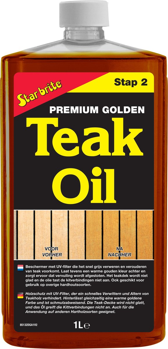 Star brite Premium Golden Teak Olie 1000ml
