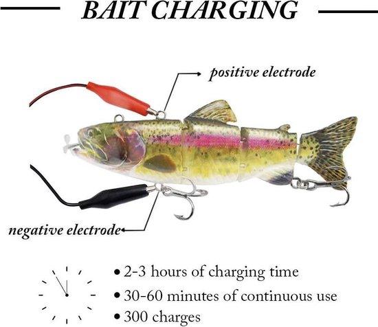 Elektrisch Kunstaas USB Oplaadbare LED Licht Swimbait Inteli Self-Propelling Elektrische Vissen Lokken