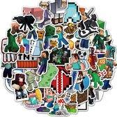 Minecraft stickers - 50 verschillende afbeeldingen - voor laptop, pc, muur, deur etc.