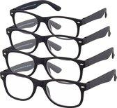 Etos Leesbril Mat Zwart +1.0 - 4 stuks
