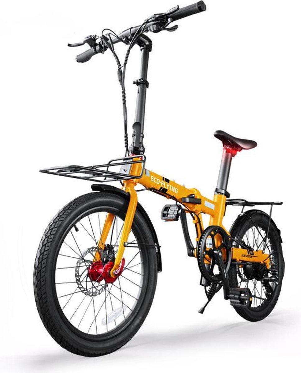 Elektrische fiets - Elektrische Vouwfiets - Eco Flying TOP 760 - Geel