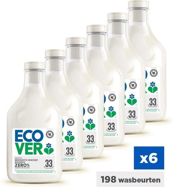 Ecover ZERO Wasverzachter - Voordeelverpakking  6 x 1 L - 198 Wasbeurten