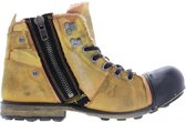 Yellow cab | Industrial 2-h yellow canvas/suede boots | Maat: 47
