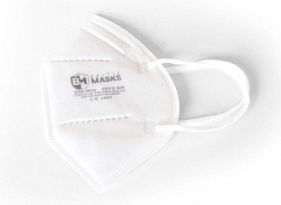 Afbeelding van Baltic Masks | FFP2 mondkapje | 10 stuks | Wit | Verpakt per 2 | Gelijk aan KN95
