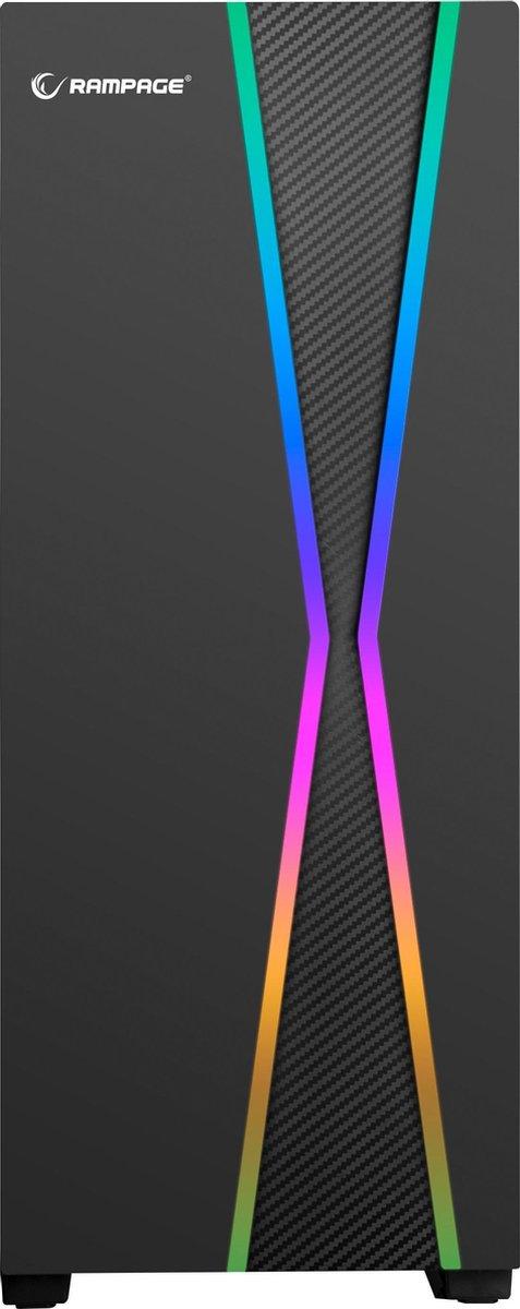 Rampage X-MAX Gaming PC Behuizing/Toren Midi Tower – Zwart