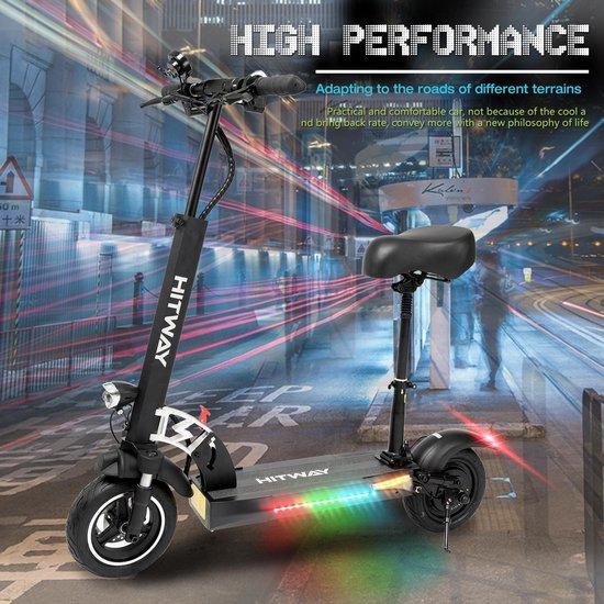 Hitway Opvouwbare Elektrische Step E-scooter   10Ah   800W   Met Zadel - Zwart