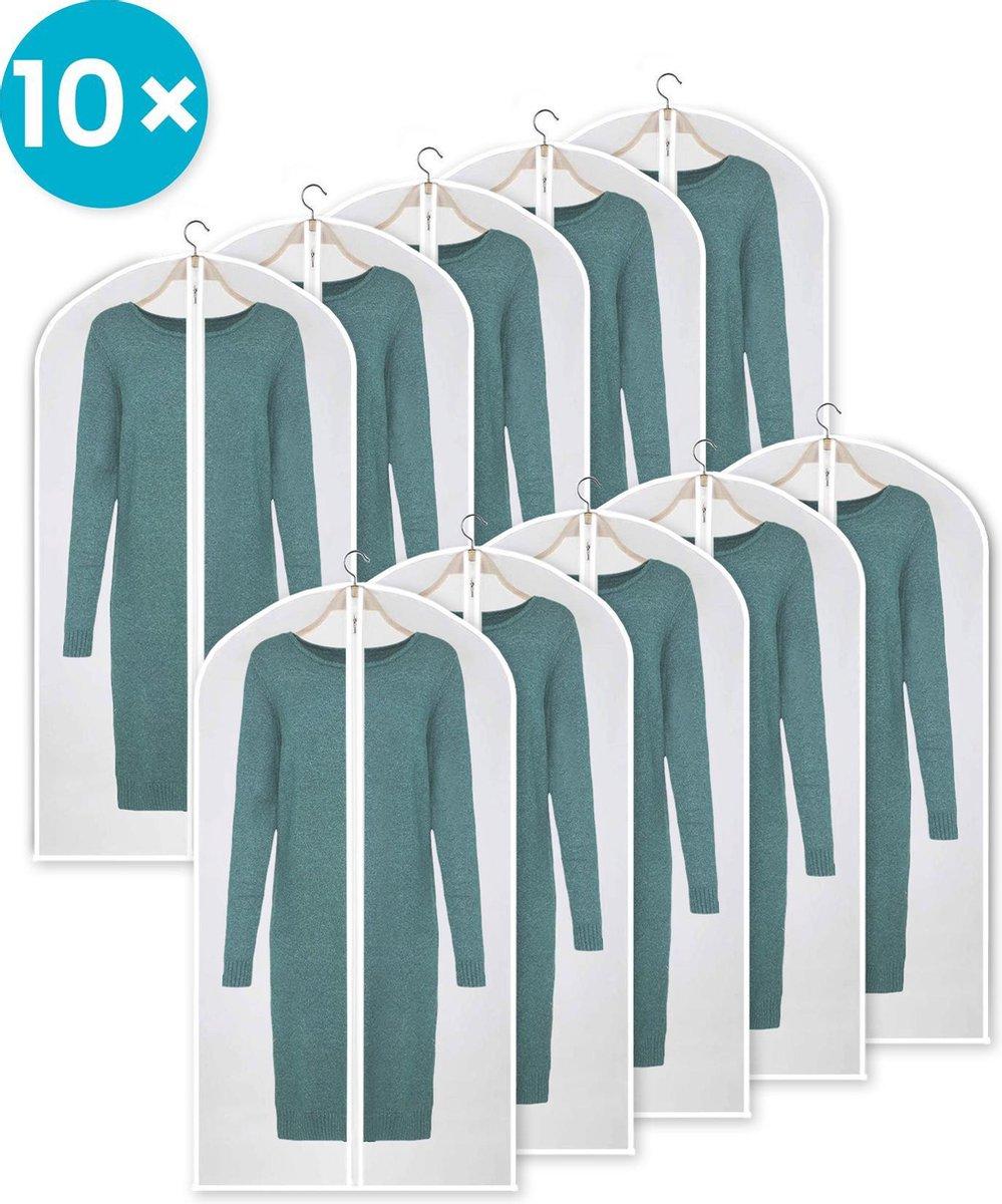 AVINT GOODS® - Kledinghoes – 10x Transparante Kledinghoes – 60x140cm - Ristsluiting - Opbergtas Kled