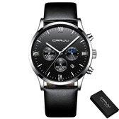 CRRJU® Horloges voor Mannen Herenhorloge Jongens Heren Watch Horloge – Horlogebox Geschenkdoos – Zwart Grijs
